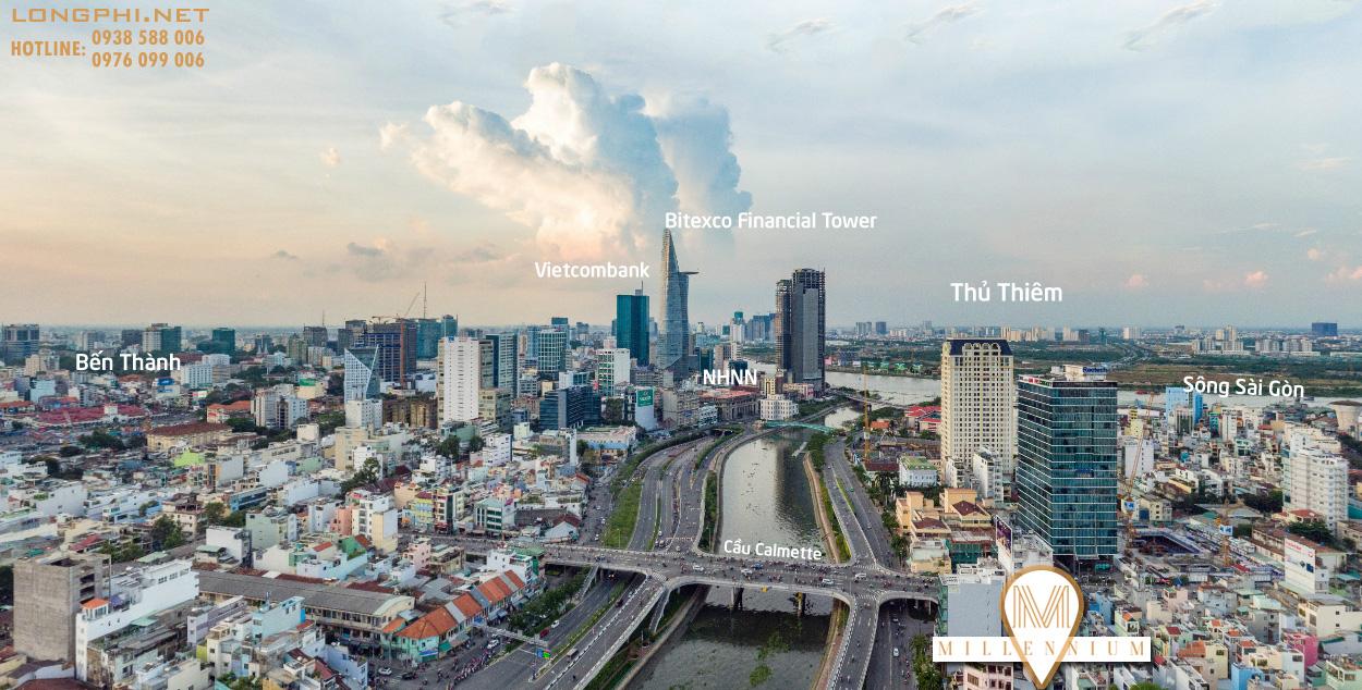 Dự án căn hộ officetel Millennium quận 4 có vị trí ngay trung tâm thành phố liền kề các tiện ích hiện đại chỉ trong một vài phút di chuyển./