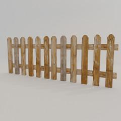 Fence Wood Free 3D Model