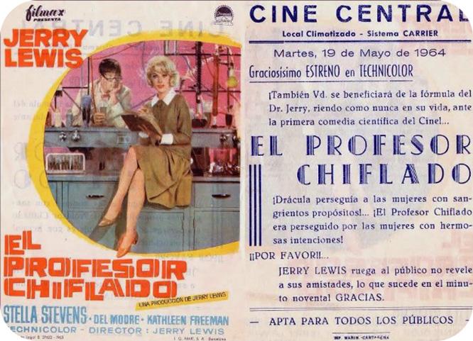 Jerry Lewis en los Cines de Cartagena