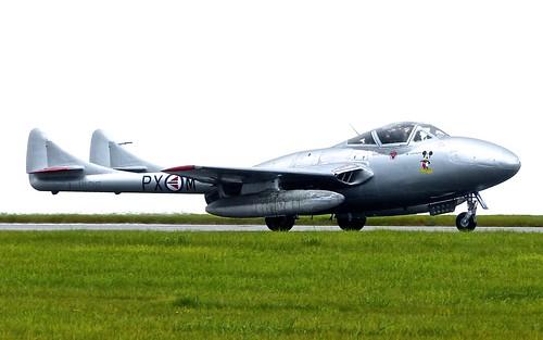 LN-DHZ / PX-M 'Royal Norwegian Air Force Historic Squadron' De Havilland Vampire T55 on 'Dennis Basford' railsroadsrunways.blogspot.co.uk'