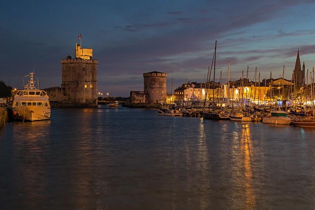 La Rochelle Hafen abends