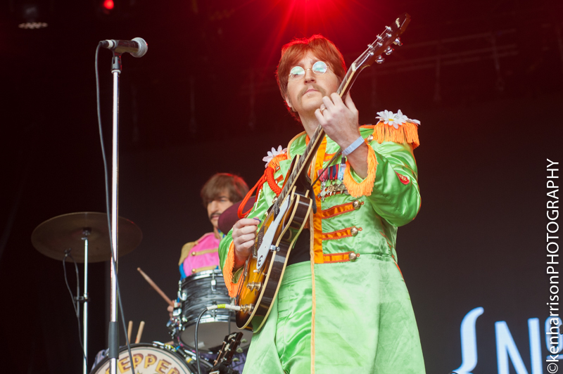 The Royal Liverpool Philharmonic Orchestra and The Bootleg Beatles play Festival No.6 Main Stage to celebrate 50th Anniversary of Sargeant Peppers Lonely Hearts Club Band album and the 'Summer of Love' 10th September 2017, Portmeirion, Wales, UK