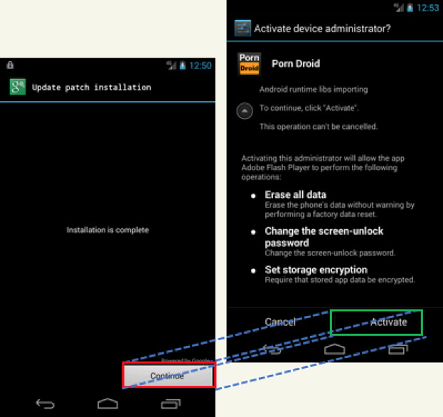 Android overlay attack