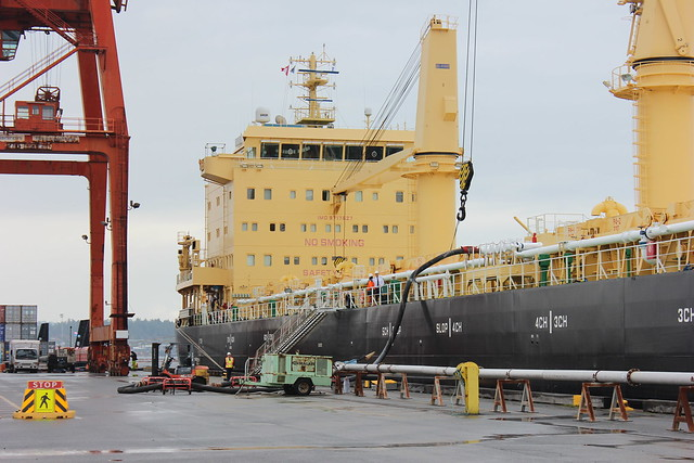 Ocean freighter MV Tanja officially named in Nanaimo
