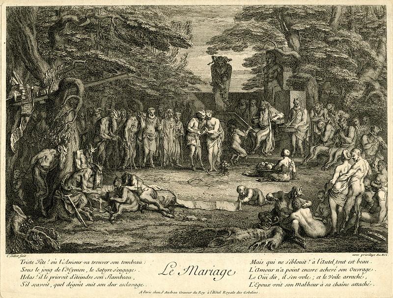 Claude Gillot - The Marriage