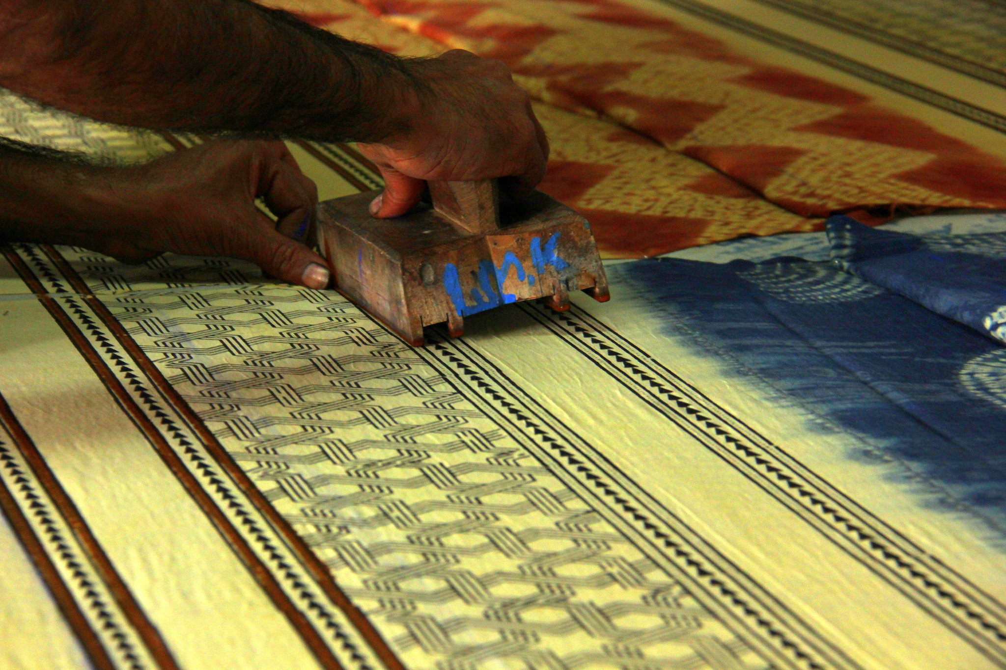 Block printing workshop in Kutch, Gujarat