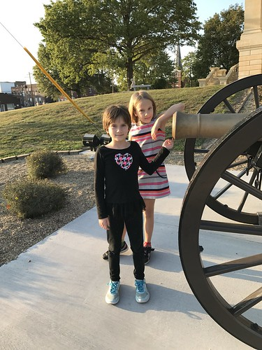 two girls and a cannon