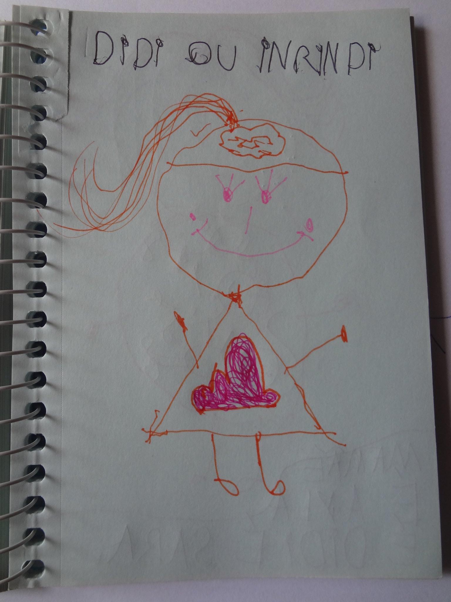 Essa é a Did. A irmã com o cérebro de nuvem e com nuvem no vestido porque ela ama nuvens. Ela tem três cílios