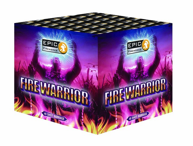 Fire Warrior 49 Shot Barrage #EpicFireworks