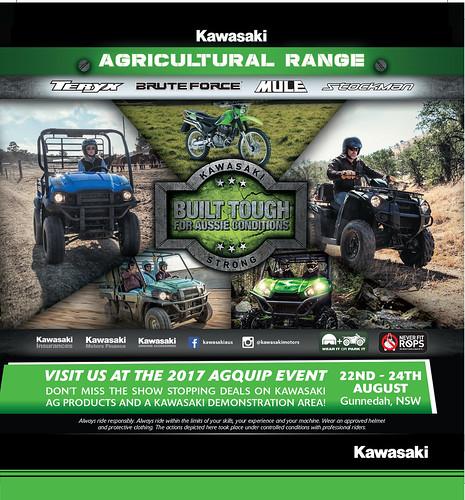 KAWASAKI DEALER EVENT – Ag Quip Field Days: August 22-24 2017