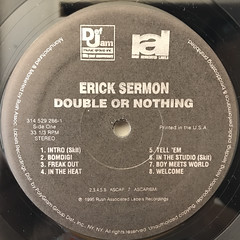 ERICK SERMON:DOUBLE OR NOTHING(LABEL SIDE-A)