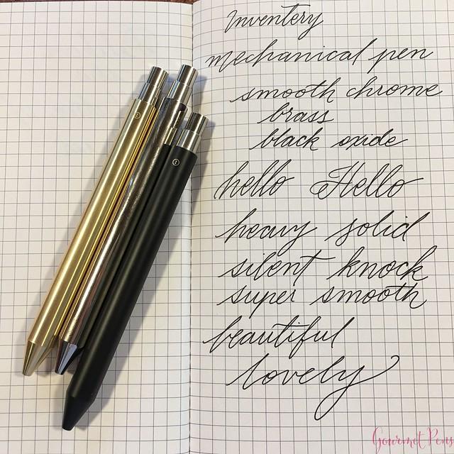 Review @InventeryCo Mechanical Pens - Brass, Chrome, Onyx 15