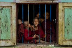Escola budista a Myanmar