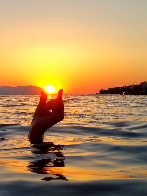 Mermaid holding the sun...