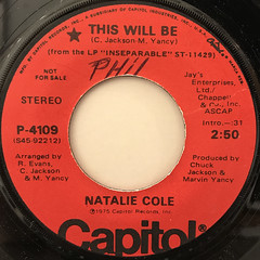 NATALIE COLE:THIS WILL BE(LABEL SIDE-B)