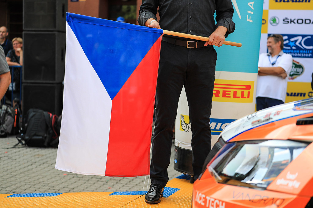 ambiance flag during the 2017 European Rally Championship ERC Barum rally,  from August 25 to 27, at Zlin, Czech Republic - Photo Jorge Cunha / DPPI