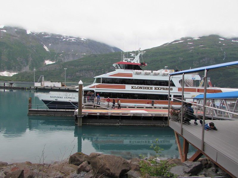 The huge catamaran of the competitor (Phillips Cruises) getting ready to go on the 26-glacier cruise - this left about 15-30 minutes before we did