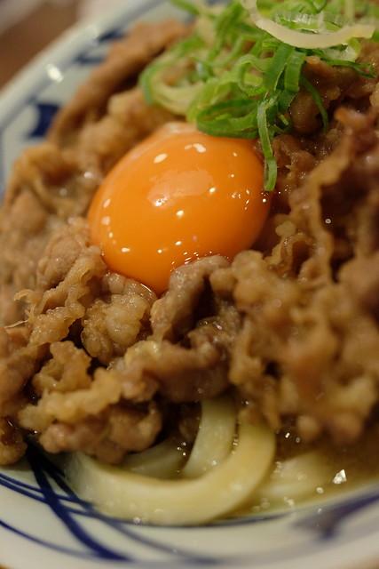 丸亀製麺 牛すき釜玉 牛すき月見 06