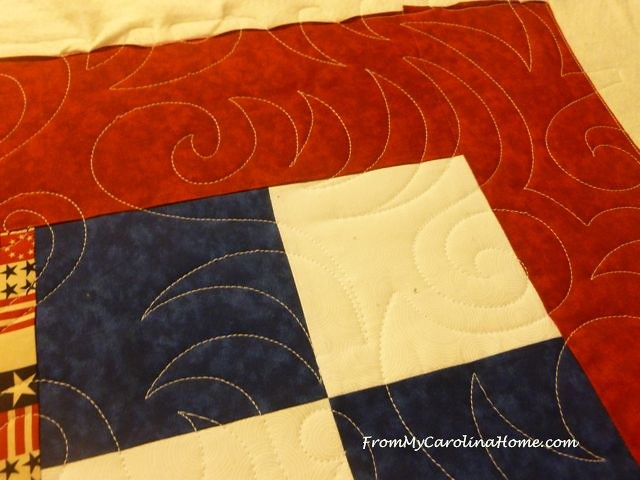 Quilt of Valor Four Patch at From My Carolina Home