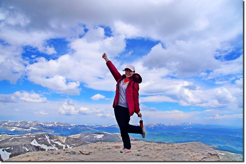 Mount Evans山頂(4,348 m) 2