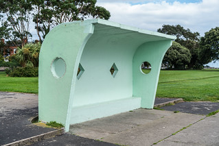 RETRO WIND SHELTERS IN CLONTARF [DESIGNED IN 1934 BY HERBERT SIMMS]-131627