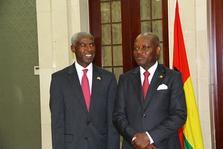Ambassador Mushingi's First Visite to Guinea-Bissau