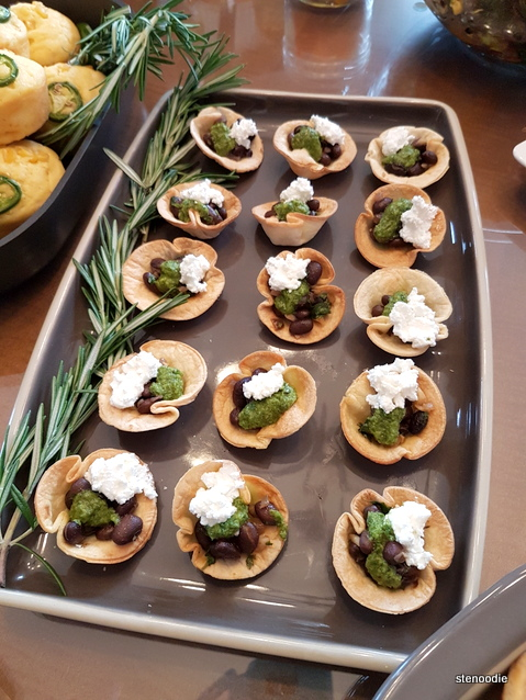 Tray of One-Bite Taco Cups