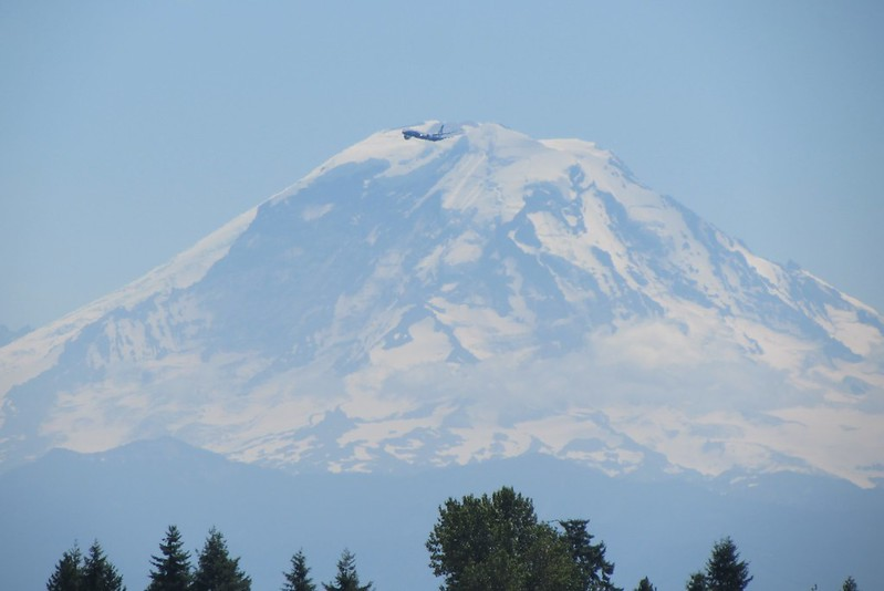 Boeing's test plane (as per Baab) near Mt Rainier