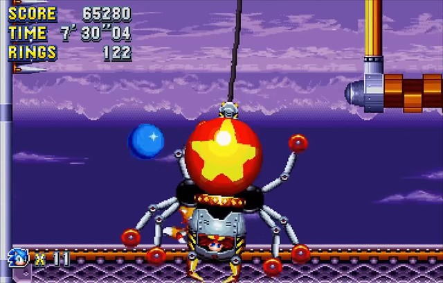 Sonic Mania - Dr Robtnik Uçan Pil Patronu