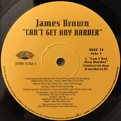 JAMES BROWN:CAN'T GET ANY HARDER(LABEL SIDE-C)