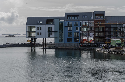 architecture building car coast construction industry larvik people sea stavern
