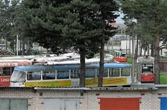 Daugavpils satiksmen ratikkavarikon pihaa