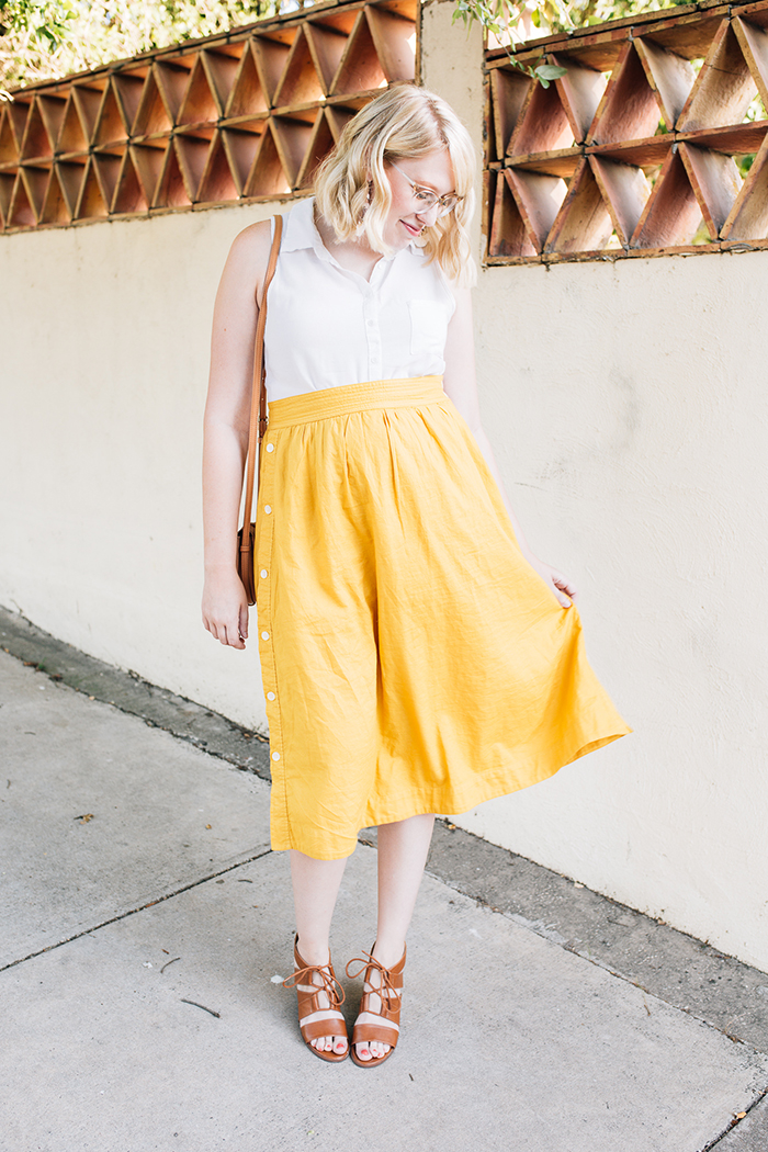 austin fashion blogger writes like a girl madewell yellow midi skirt5