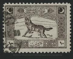 MiNr. 0772 Der Graue Wolf Bozkurt 10 Pia Braun 5920 M  1922/1923 Nationale Einigung aller Turken Bdr. Auf  dunnes und dickeres Papier