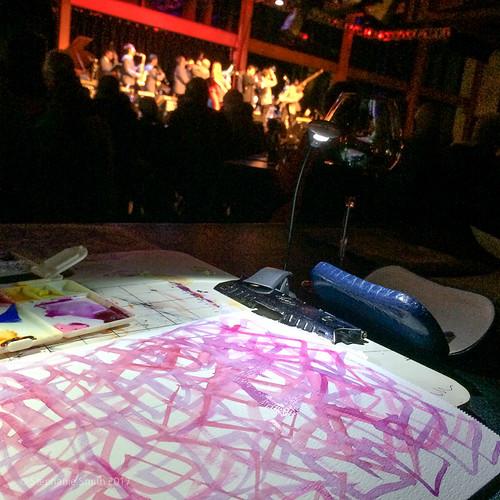 Art making during the Glenn Miller Orchestra