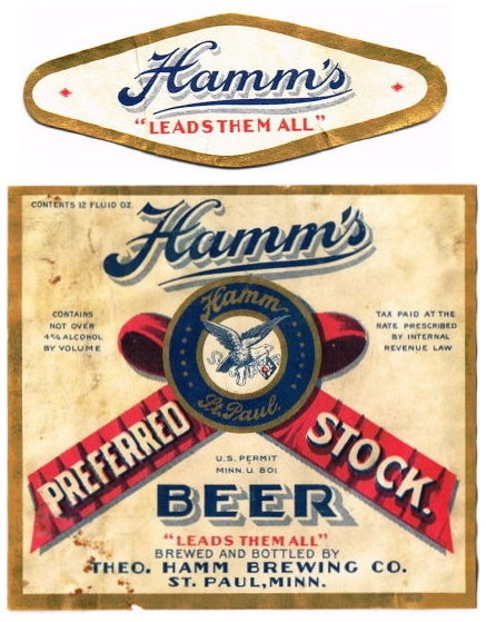 Hamms-Preferred-Stock-Beer--Labels-Theo-Hamm-Brewing-Company--Post-Prohibition