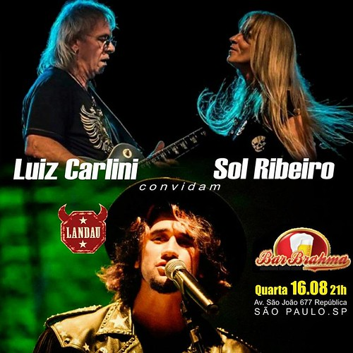 Luiz Carlini e Sol Ribeiro