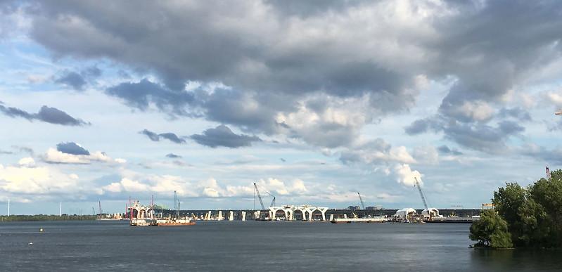 New bridge construction August 2017