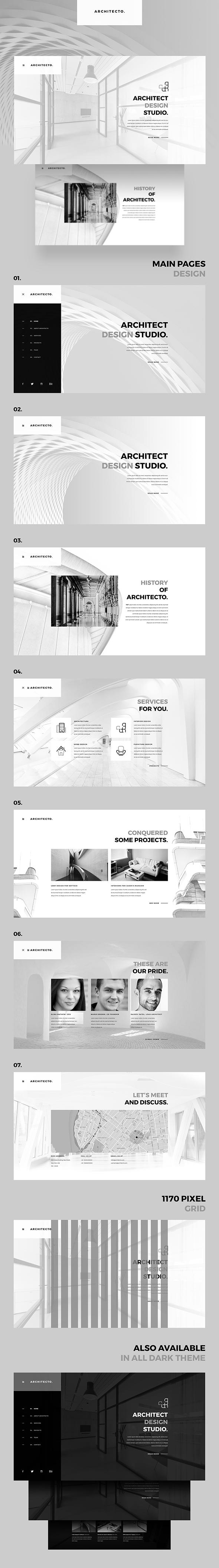 Architecto Architecture Studio PSD Template - 1