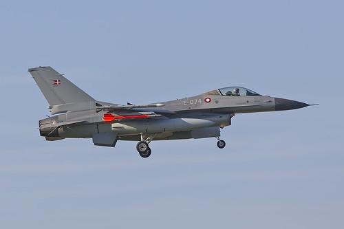 E-074, General Dynamics F-16A Block 20MLU Royal Danish Air Force @ Florennes EBFS