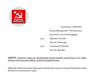 partito comunista casamassima debiti