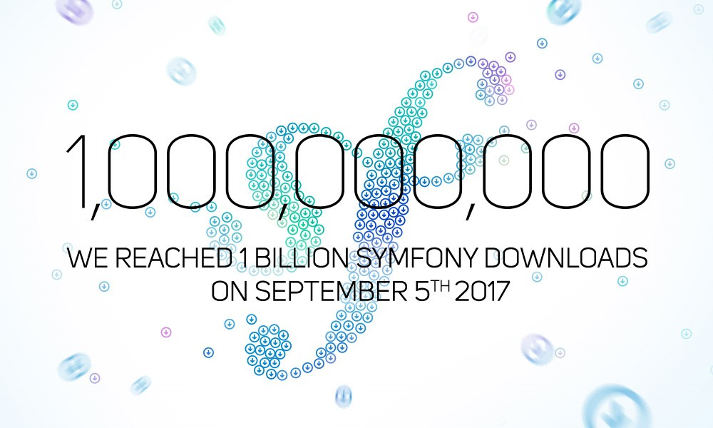 Symfony Components reached 1 billion downloads on September 5th 2017