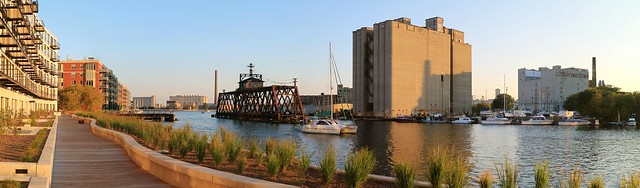 Evening on the Milwaukee River by DoMUS (Panorama)