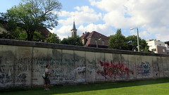 Remains of the partition wall covered with graffiti - Gedenkstätte Berliner Mauer