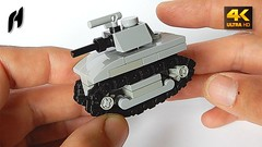 How to Build a Microscale Lego Tank (MOC - 4K)