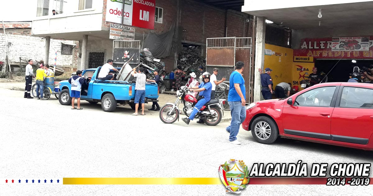 Autoridades clausuraron locales de compra de chatarra