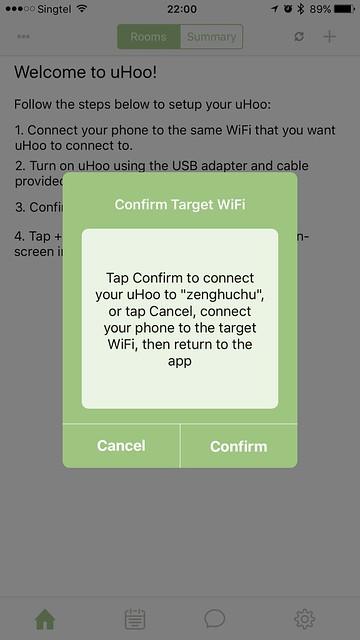 uHoo iOS App - Setup #2