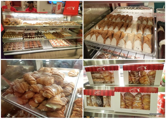 Carlo's Bakery cannoli and lobster tails