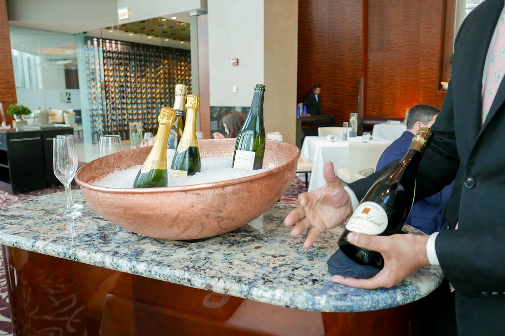 Champagne trolley at Sixteen