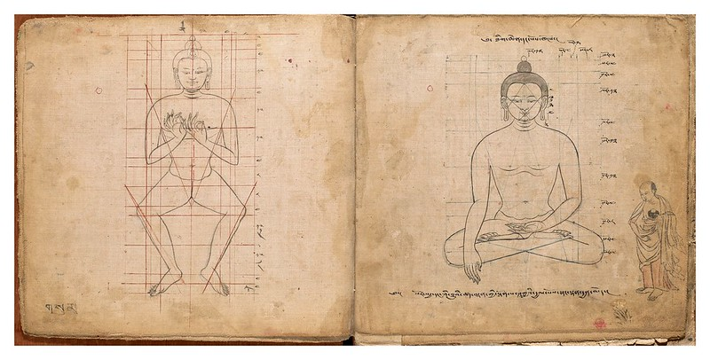 003-Tibetan pattern book of proportions- Getty Digital Collections